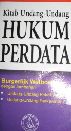 KITAB UNDANG-UNDANG HUKUM PERDATA (Burgerlijk Wetboek)
